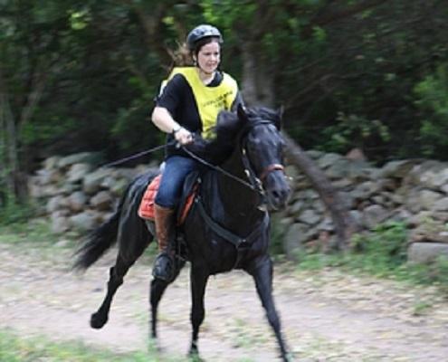 Frombu monté par Cyrielle en course d'endurance à Lecci di Purti Vechju